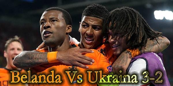 Pertandingan Belanda Vs Ukraina Euro 2020 3-2
